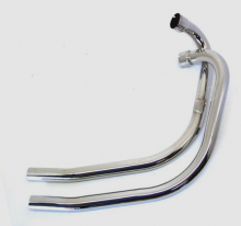 Exhaust Pipes Stainless Steel, Triumph T140 TR7  Push Over Stub Non Balanced 71-7507/8