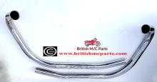 Exhaust Pipes Stainless Steel, Norton Commando MK3 850cc, (Pair)06-5256/7 NON Balanced