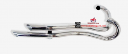 Exhaust Pipes High Level,Slash Cut TRIUMPH T100C & All Unit 350-500cc  70-7020/22, 71-0017/19