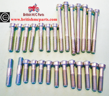 Triumph 3TA 5TA, T100, Engine Covers Filister Screw Set 00-0081