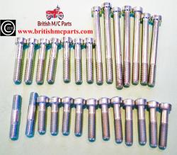 Triumph 3TA 5TA, T100, Engine Covers Filister Screw Set 00-0081