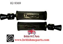 Triumph 5T 6T T110 TR6 T120 Folding Pillion Footrest Assembly Triumph Logo 82-9369
