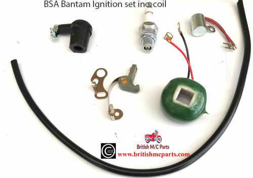 BSA BANTAM  D1-D7 Points, Condensor, Coil, Plug  and Top, HT Lead Wipac Ignition