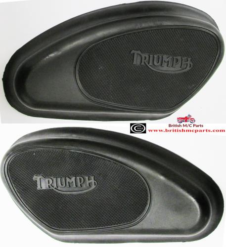 82-1605/06 Triumph Petrol Tank Knee Grips,T20, 6T, TR6, T100 T110 T120,