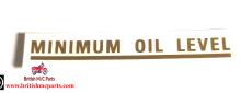 BSA  A7 A10 - MINIMUM OIL LEVEL Transfer Decal 1736
