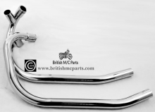 06-3397/8 Exhaust Pipes  Norton Commando MK2A 850cc, (Pair) Balanced