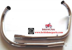 Exhaust Pipes, Triumph 3TA, 5TA, T100A,  1958- 70-3992/34