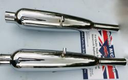 Silencers Triumph 5T, T100, 6T, T110, 70-3323/4, 1954
