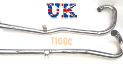 Exhaust Pipes High Level, TRIUMPH T100C  Unit 500cc  70-7020/22, 71-0017/19