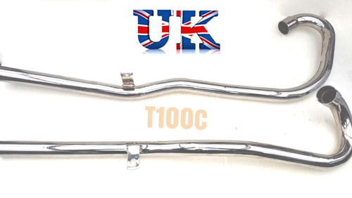 TRIUMPH T100C - High Level Exhaust Pipes - Fits All Unit 500cc 71-0017/18  sc 1 st  BSA | Norton & Exhaust Pipes TRIUMPH T100C 1969 -71 UK Made 71-0017/18 - British M ...