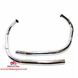 Exhaust Pipes Stainless Steel, Triumph T140 TR7  Push in Non Balanced 71-3755/8