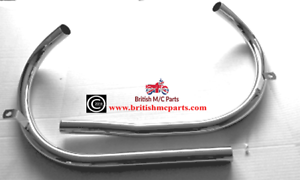 EXHAUST PIPES -  BSA A7, Rigid & Plunger, 1948-52, 67-2675/79  (PR)