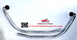 06-3397/8 Exhaust Pipes  Norton Commando MK2A 850cc, (Pair) UNbalanced