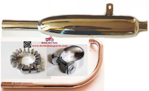 Triumph Tiger Cub Complete Exhaust System E3883 ,E3257, E3259, E3269 UK Made