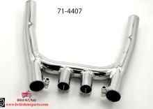 71-4407 Exhaust Collector Box Triumph TridentT160 Chrome  UK Made