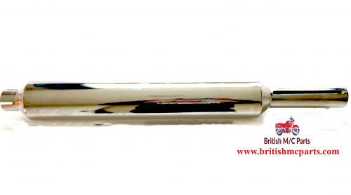 SILENCER  Francis Barnett Falcon 74 - 1 1/2 inlet  Chrome UK Made