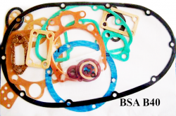 BSA B40 GASKET SET COMPLETE WITH COPPER HEAD GASKET -  B40 Star SS90 350cc (1961-65)