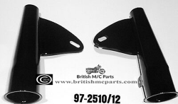 97-2510/12  BSA Fork Headlamp Holders  BLACK UK Made
