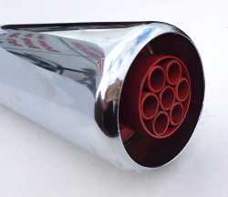 Silencer, Dunstall Type Replica Silencer.(Universal ) with Red Diffuser  id:35-38mm