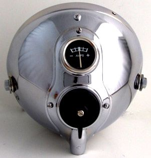"""Lucas SSU700 7""""Replicaheadlamp with Switch & Ammeter"""