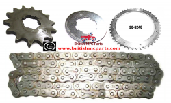 Front & Rear Sprocket and Chain BSA BANTAM D7 D10 D14 B175 90-0299  90-6240
